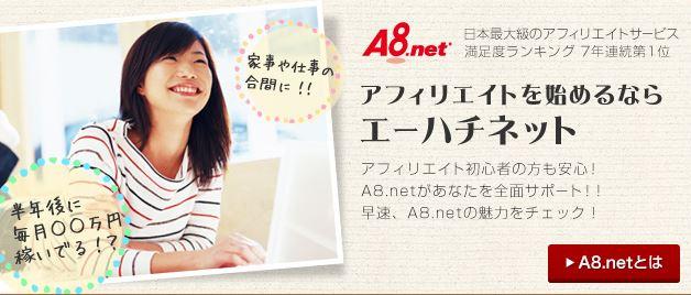 A8ネット紹介画面