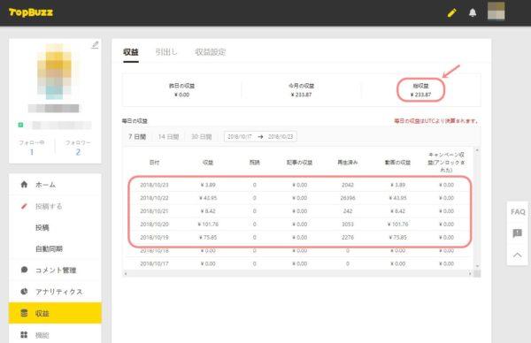 TopBuzzアカウント管理画面_収益画面20181023